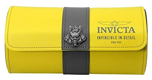 Invicta 3-Slot Watch Roll Travel Case (Yellow)