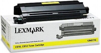 Original Lexmark Toner 12N0770 gelb für C910 C912 B-Ware