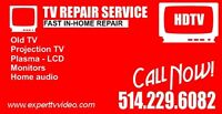 Montreal TV repair and in-home services