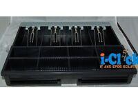 Used \ New Cash Draw Black Grey 24V / 12V for EPOS Cash Drawer with RJ11 / RJ12 Connection