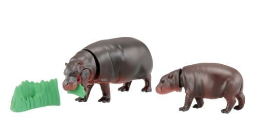 TAKARA TOMY Animal adventure Ania AS-16 Hippo Parent and child Japan import NEW