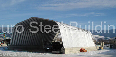 Durospan Steel 25x30x12 Metal Building Kit Equipment Shelter Open Ends Direct