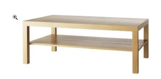 New Ready Embled Coffee Table Oak Effect 118 X 78 Cm