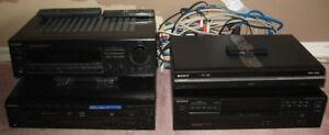 SYSTÈME DE SON SONY RADIO, AMPLIFICATEUR, GRAVEUR DVD MP3