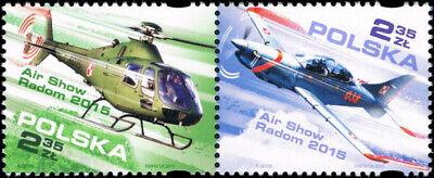 Poland 2015 - Air Show Radom - Fi 4632-4631 MNH** (Air Show 2015)