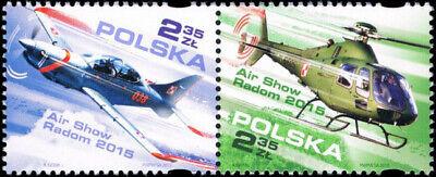 Poland 2015 - Air Show Radom - Fi 4631-4632 MNH** (Air Show 2015)