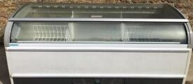 Novum Commercial Curved Glass Display Chest Freezer