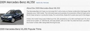 2009 Mercedes-Benz M-Class sports SUV, Crossover