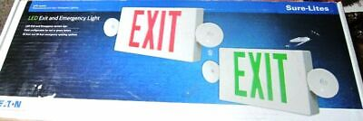 Emergency Light Exit Sign Combo Lpxc Series 2.5-watt White Integrated Led 2-head