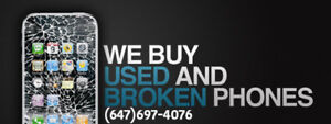 WE BUY YOUR USED AND BROKEN PHONES AND LAPTOPS