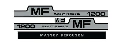 Massey Ferguson 1200 Tractor Hood Grille Decal Set Sticker Vintage 265 255 1105