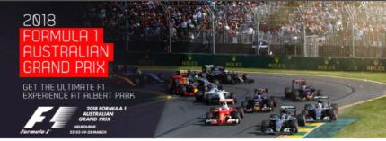 Grand Prix Aus 2018 - 2 x 4 day tickets