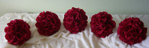 5 Small Red Rose Bridesmaids Wedding Bouquet Flowers. London Ontario image 2