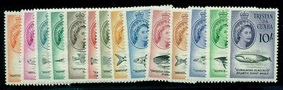 TRISTAN DA CUNHA #28-41 Fish, og, LH, VF, Scott for NH $89.80