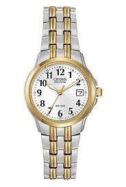 Citizen Women's EW1544-53A Eco-Drive Two-Tone White Dial Watch