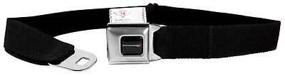 Seatbelt Men Canvas Web Military Webbing Dodge Red Charger Challenger Black Logo