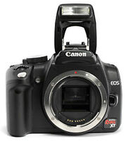 Canon Rebel XT with 18-55mm kit lens, 8 MP, sole owner