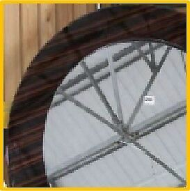 LARGE ROUND MIRROR - WALNUT EFFECT (RRP £180) selling for £75 O.N.O.
