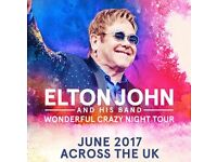 2 tickets to see Elton John at First Direct Arena Leeds