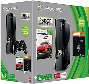 XBOX 360 250GB S Console holiday Bundle 2012 2 FREE GAMES PAL AUS *BRAND NEW!*