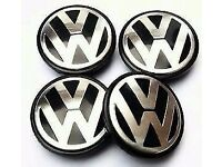4X 65MM NEW VW ALLOY WHEEL CENTRE CAP FIT POLO GOLF PASSAT SCIROCCO BORA