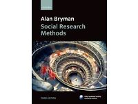 Alan Bryman Research Methods 3rd Edition £15 ONO
