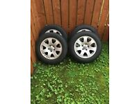 "**AUDI ALLOY 17"" WHEELS X 4**"