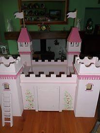 wooden pink fairy castle