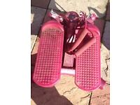 pink exersize stepper good condition only £5.00