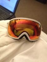 Brand new snowboarding goggles and helmet.