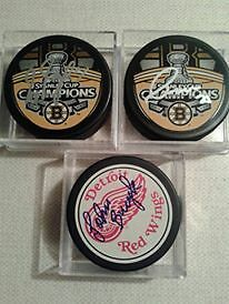 BOSTON BRUINS AUTOGRAPHED PHOTOS AND PUCKS Edmonton Edmonton Area image 10