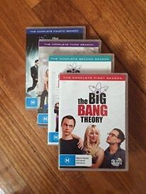 ALMOST NEW: Big Bang Theory DVDs Seasons 1-4 Strathmore Moonee Valley Preview