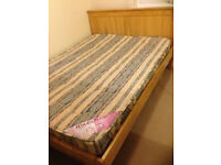 Very good quality wooden frame double bed