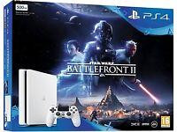 BRAND NEW SONY PLAYSTATION 4 SLIM 500GB GAME CONSOLE BUNDLE - WHITE + STAR WARS BATTLEFRONT 2