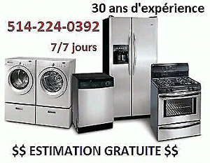 Repair washer dryer 514 224 0392 réparation laveuse secheuse