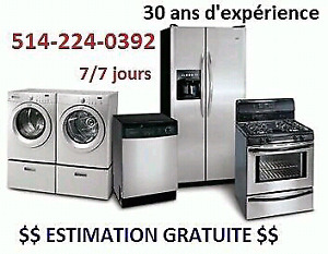 Washer dryer repair 514 224 0392 reparation Laveuse Secheuse