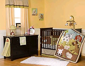 Kids line baby nursery bedding set.