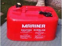 Marina metal fuel tank. 5 gallon.