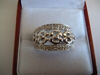 Brand New Sterling Silver Diamond Ring - (0.30 ct)- Xmas Gift!!!