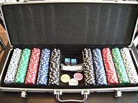 Stokes Poker Chip Sets w/ Aluminum Carrying Cases