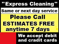 Domestic Cleaning one-off £13.50 p/h * Carpet Cleaning from £15 * End of Tenancy Cleaning