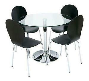 Glass dining table dining furniture ebay glass dining table and chairs workwithnaturefo