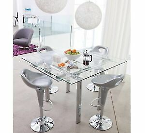 Structube bar height extendable glass table