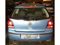 VW Polo Tailgate In Blue Breaking For Parts (2005)