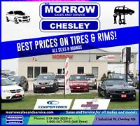 Great Prices on all sizes of tires and rims.  Storage available.