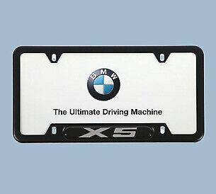 BMW X5 Black License Plate Frames82-12-0-418-627