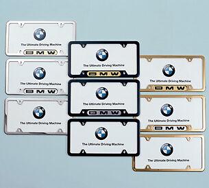 License Plate Mounting Hardware-Frame Finishing Caps - Black BMW OEM 82120150564