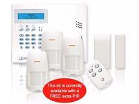 Wireless Burglar Alarm Fully Installed (Includes 12 Months Alarm Monitoring)