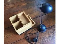 desk organizer plus desk lamp and small LED lamp only £12