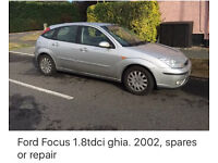 Ford Focus MK1 TDCI 98/04 breaking for parts